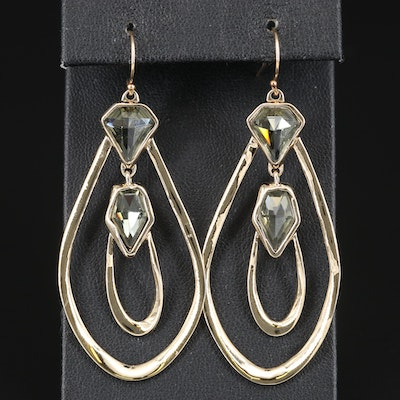 Alexis Bittar Rhinestone Dangle Earrings