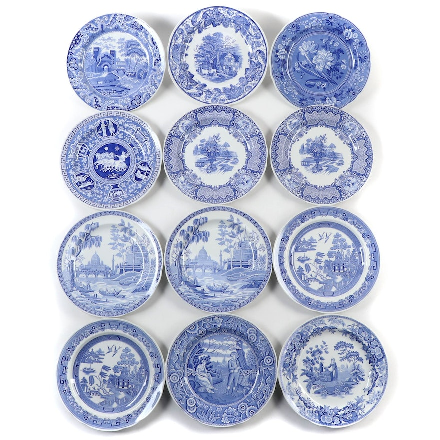 Spode Blue Room Collection Plates, Late 20th to 21st Century