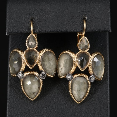 Alexis Bittar Rhinestone Drop Earrings
