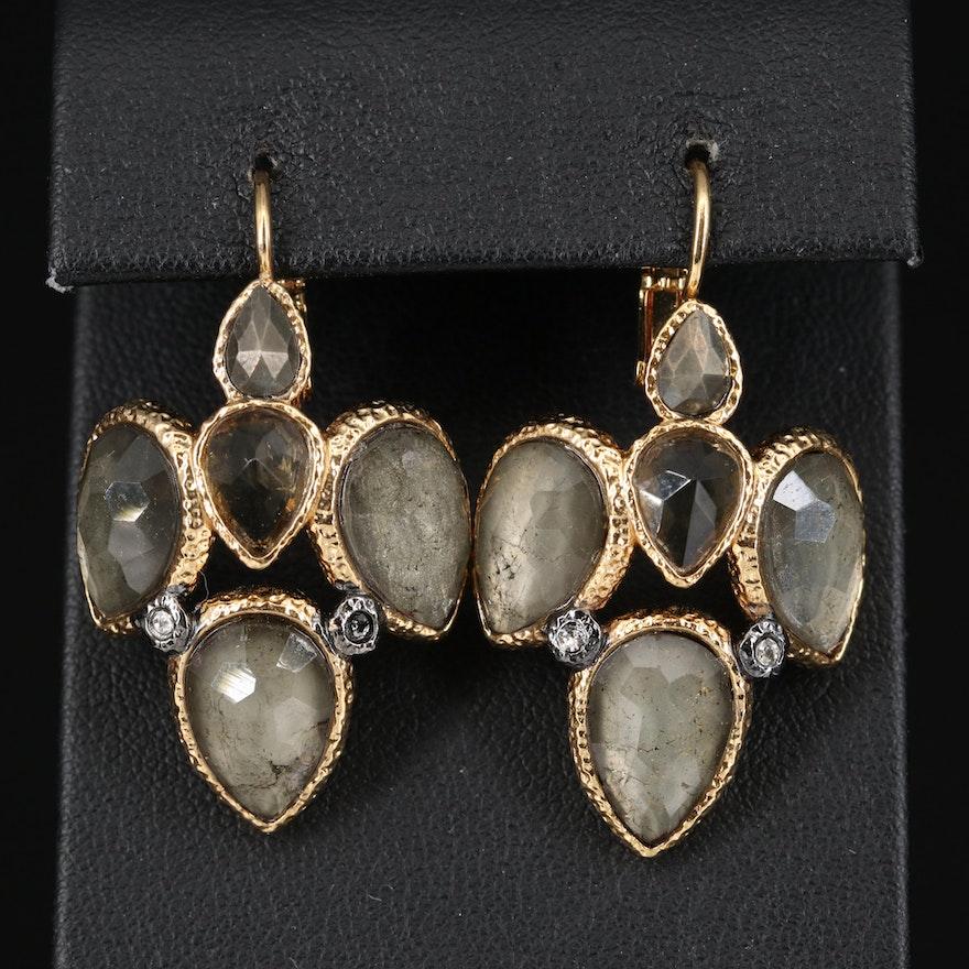 Alexis Bittar Rhinestone Drop Earrings