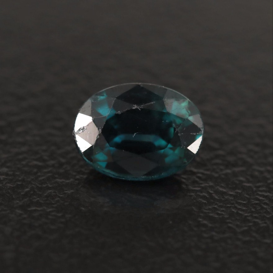 Loose 1.08 CT Oval Faceted Sapphire