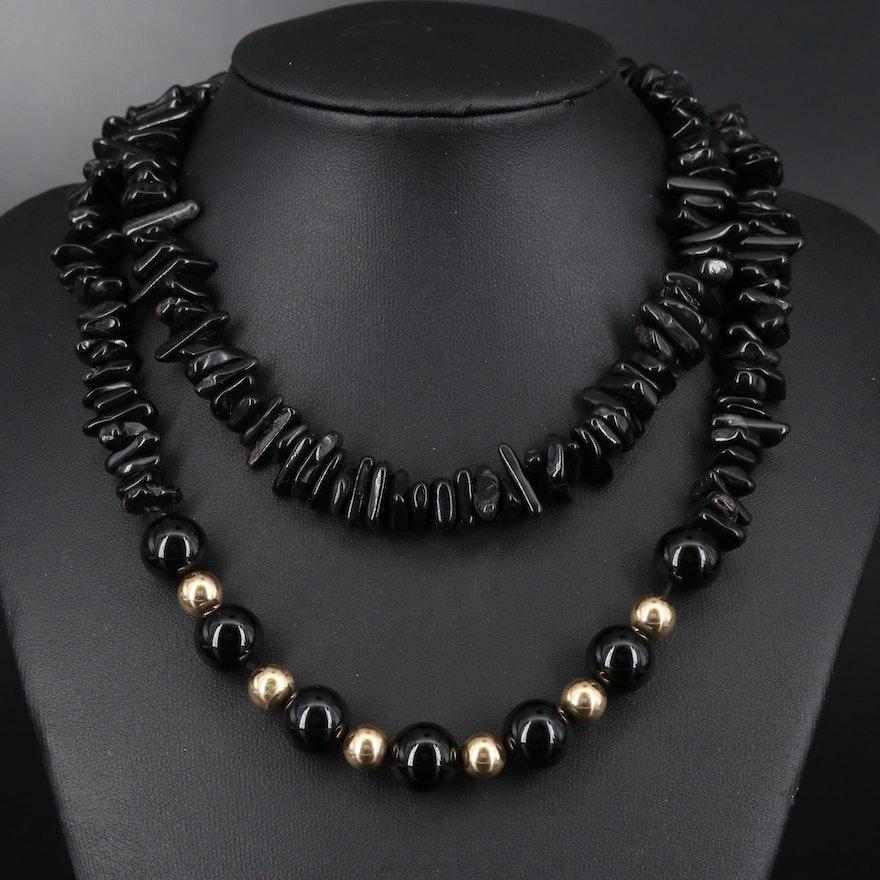 Black Onyx Endless Necklace