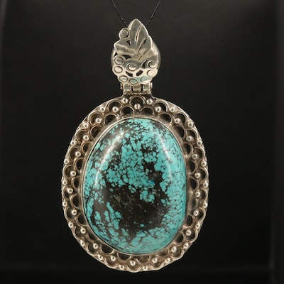 800 Silver Turquoise Pendant