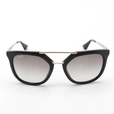 Prada SPR13Q Cinema Browline Sunglasses with Case