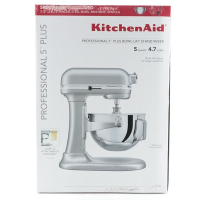 KitchenAid Metallic Chrome Pro 5 Plus Bowl-Lift Stand Mixer
