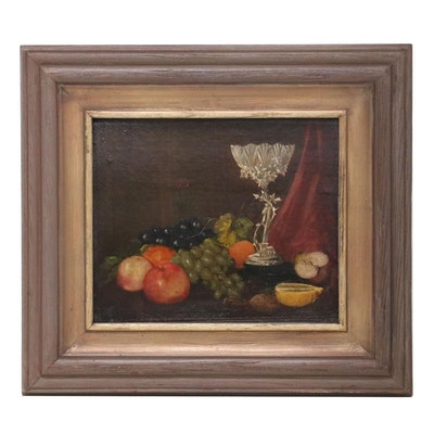 Still Life Oil Painting of Fruit, Early 20th Century