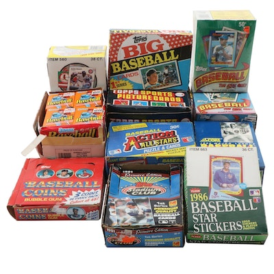 1980s-1990s  Baseball Unopen Vendor Boxes of Cards and Coins