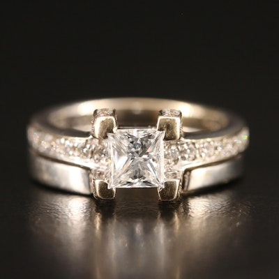 Shiree Odiz 18K and 14K 1.06 CTW Diamond Ring Set