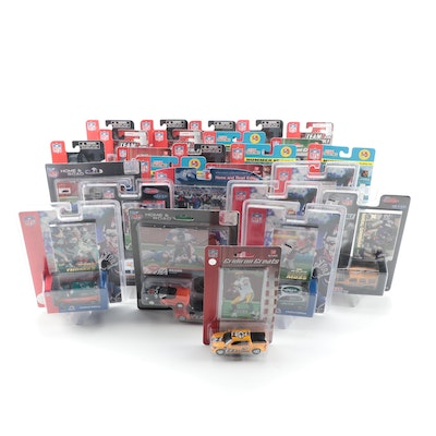 """Fleer and Upper Deck """"Gridiron Greats"""" and """"Team Collectibles"""" Diecast Cars"""