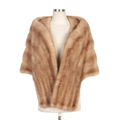 Emba Natural Brown Mink Fur Stole by McAlpin's