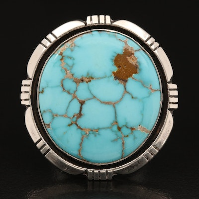 Southwestern Sterling Turquoise Ring