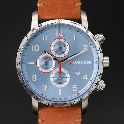 "Wenger ""Attitude"" Stainless Steel Chronograph Wristwatch"