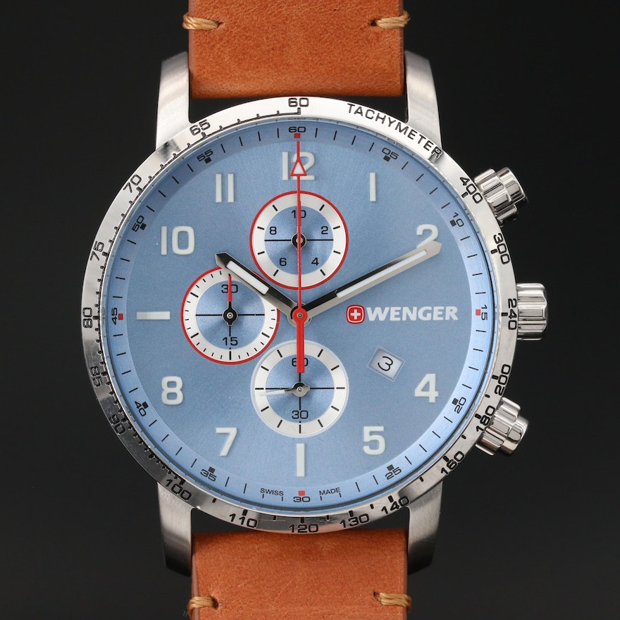 """Wenger """"Attitude"""" Stainless Steel Chronograph Wristwatch"""