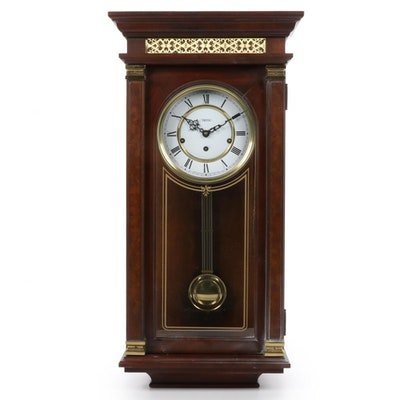 Trend Clock by Sligh Walnut Case Wall Clock