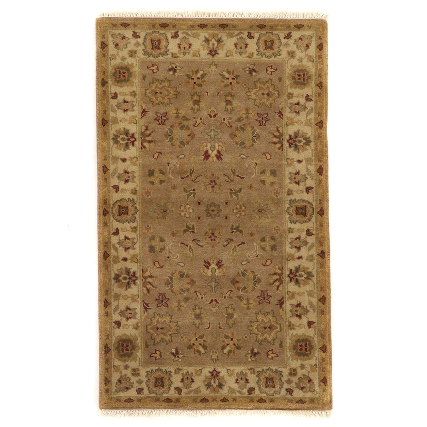 3'1 x 5'4 Hand-Knotted Indo-Persian Tabriz Accent Rug, 2000s