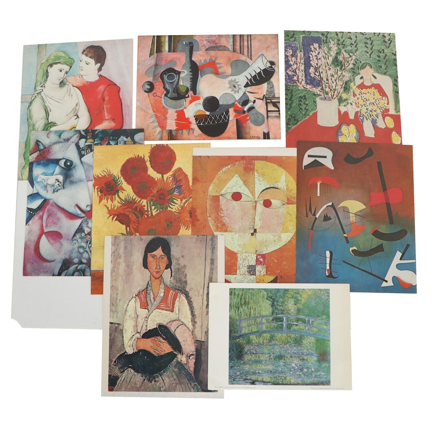 Offset Lithographs after Claude Monet, Amedeo Modigliani and More