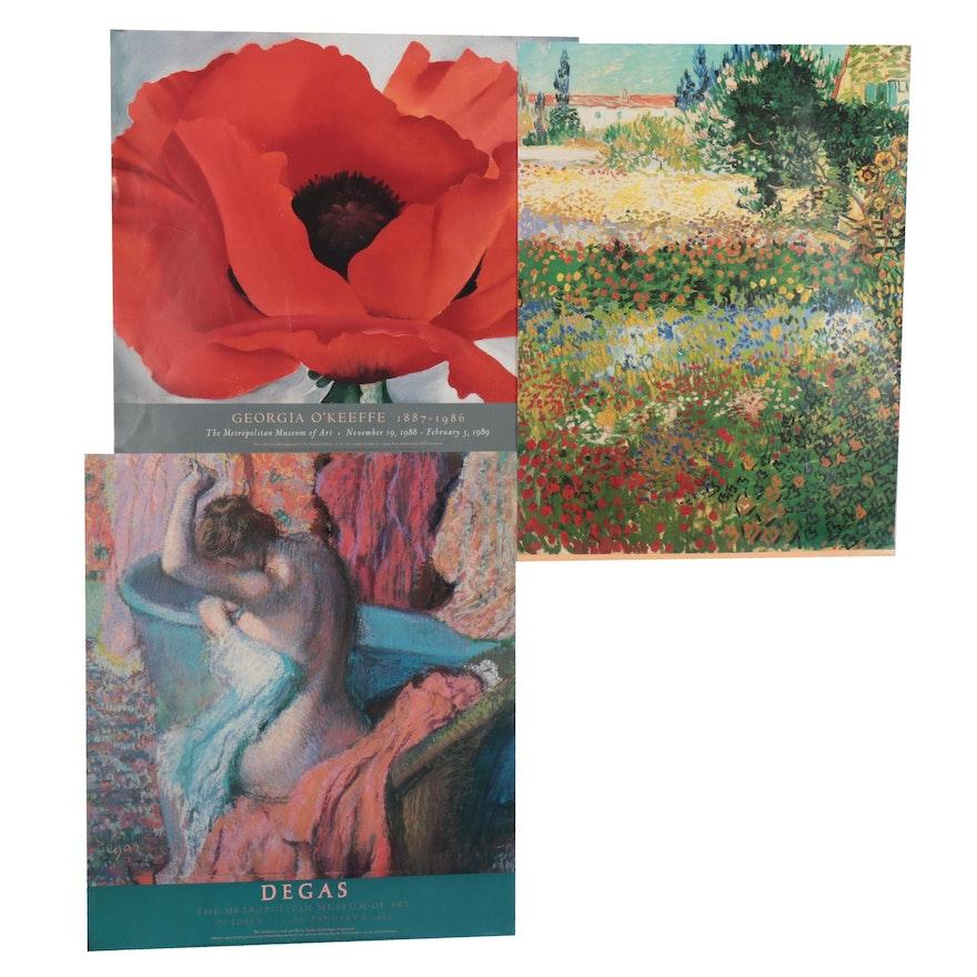 Offset Lithographs after Vincent van Gogh, Georgia O'Keeffe, and Edgar Degas