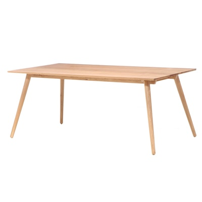 "Article ""Seno"" Mid Century Modern Style White Oak Dining Table"