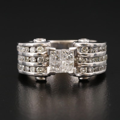 14K Invisible Set 1.16 CTW Diamond Ring