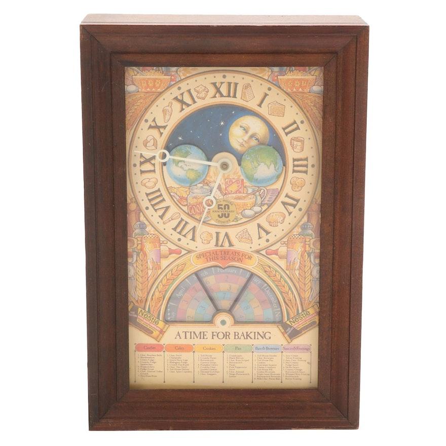 Nestlé Toll House Cookies 50th Anniversary Shelf Clock, Late 20th Century