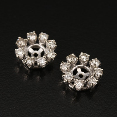 14K Diamond Earring Jackets