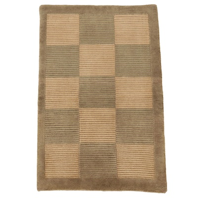 2' x 3'1 Hand-Knotted Indo-Persian Gabbeh Accent Rug, 2000s