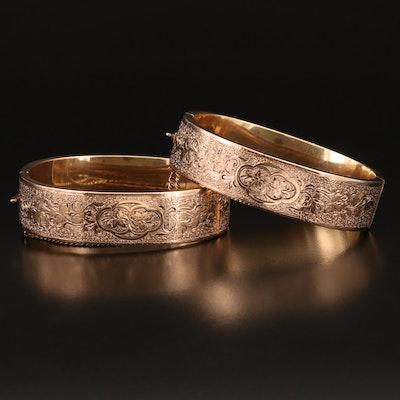 Vintage 14K Wedding Bracelets