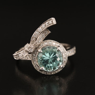 18K 1.90 CT Tourmaline and Diamond Ring