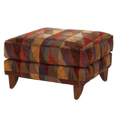 Alan White Textured Upholstered Ottoman, Late 20th Century