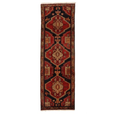 3' x 9'7 Hand-Knotted Persian Hamadon Carpet Runner