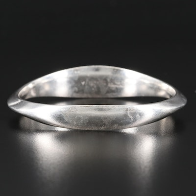 David Anderson Modernist Sterling Silver Bangle