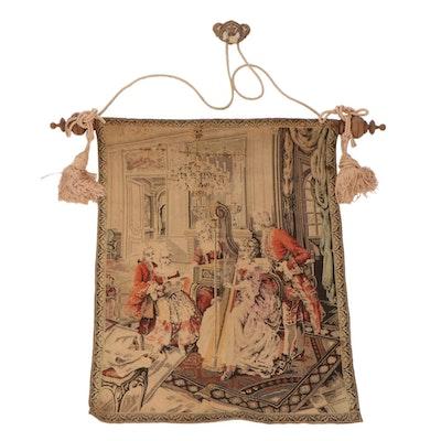 Machine Woven Rococo Style Genre Scene Tapestry
