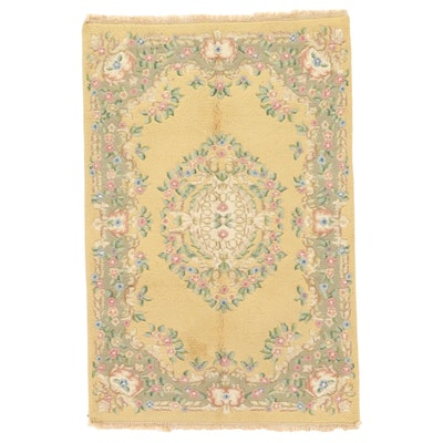 4'2 x 6'5 Hand-Knotted Couristan Indo-French Aubusson Area Rug, 2000s