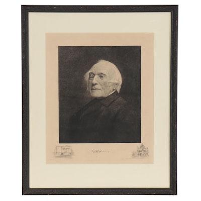 "Albert Rosenthal Engraving ""W.H. Furness,"" 1896"