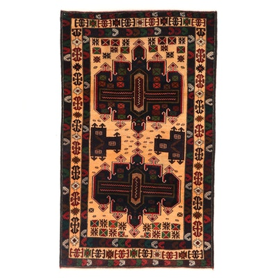 3'11 x 6'6 Hand-Knotted Persian Baluch Area Rug, 2000s