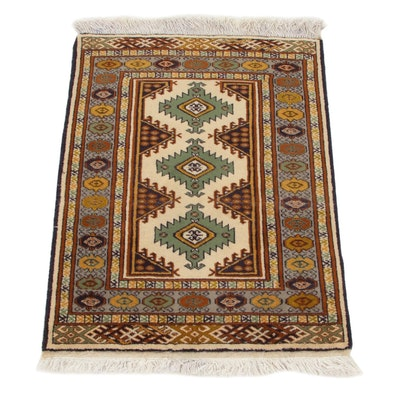 2'3 x 3'3 Hand-Knotted Persian Ardebil Accent Rug, 1970s