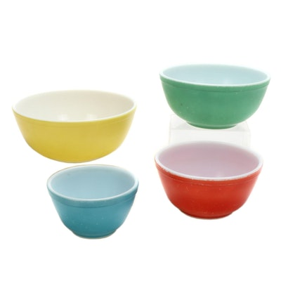 "Pyrex ""Primary Colors"" Nested Mixing Bowls, Mid-20th Century"