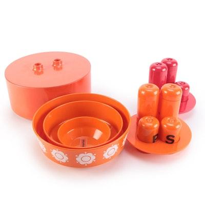 Heller, Guzzini and Buchsteiner Modernist Plastic Tableware