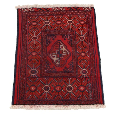 2'0 x 2'10 Hand-Knotted Persian Turkmen Accent Rug, 1970s