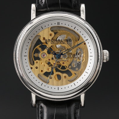 Sturhling Original Skeleton Dial Wristwatch