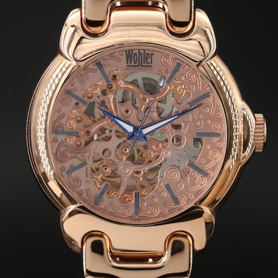Wohler Skeleton Automatic Wristwatch