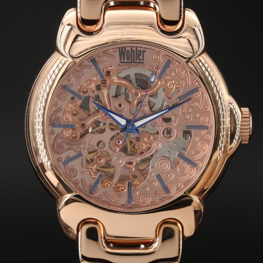 Wohler Skeleton Automatic Wristwatch