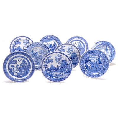 "Spode ""The Blue Room Collection"" Porcelain Plates"