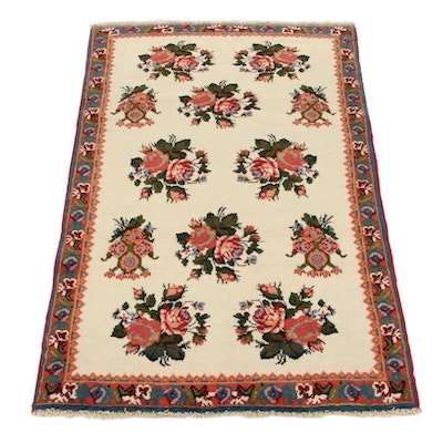 3'5 x 5'1 Hand-Knotted Persian Bijar Area Rug, 1970s