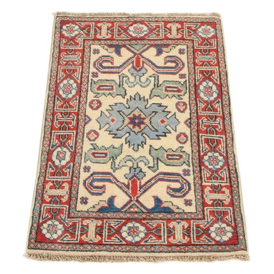 2'0 x 3'0 Hand-Knotted Afghan Persian Tabriz Accent Rug, 2010s