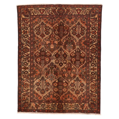 5'2 x 6'9 Hand-Knotted Persian Bakhtiari Area Rug, 1970s