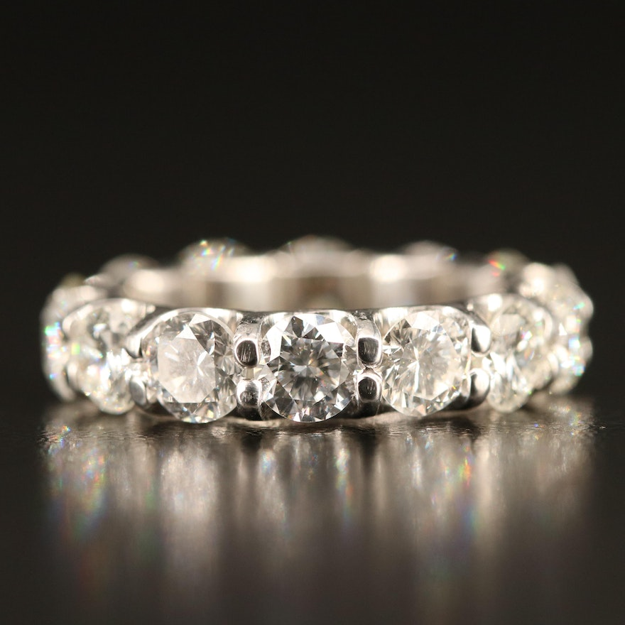 Platinum 5.48 CTW Diamond Eternity Band
