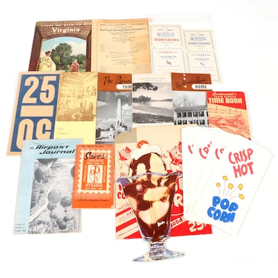 Travel Brochures, Drive-In Movie Ads and More, Mid-20th Century