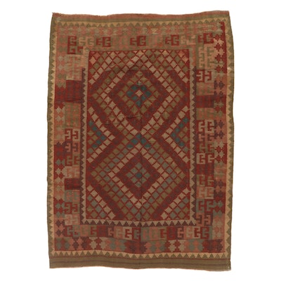 6'1 x 8'5 Handwoven Turkish Village Kilim Area Rug, 1970s