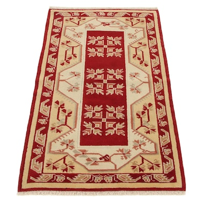 2'9 x 4'7 Hand-Knotted Turkish Village Accent Rug, 2000s